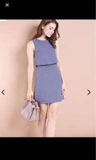 Neonmello maville dress in ash blue