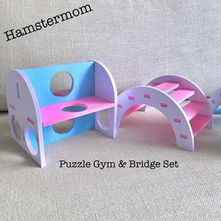 Hamster Puzzle Gym Toy & Bridge Playground Set