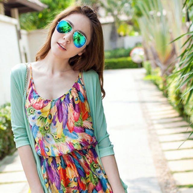 反光彩墨個性太陽眼鏡