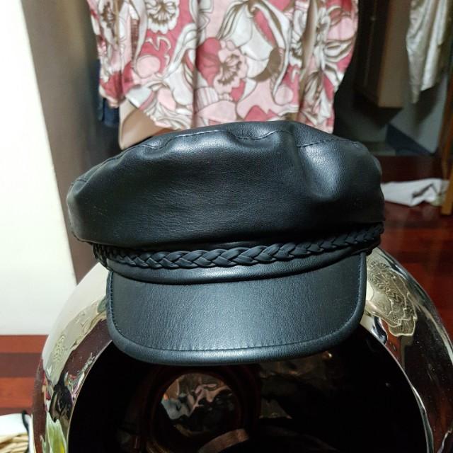 皮質船長帽