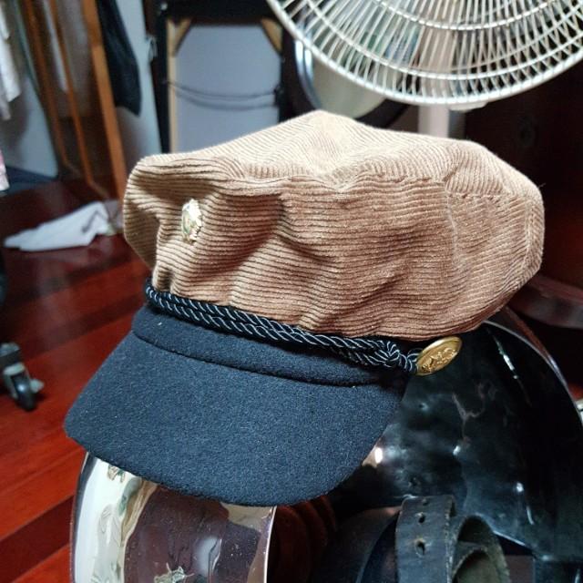 絨布船長帽
