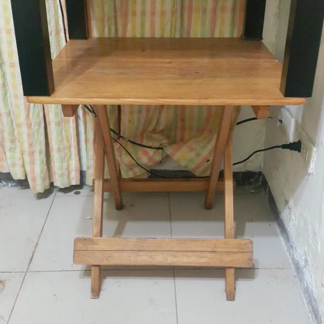 折疊小桌(木紋)