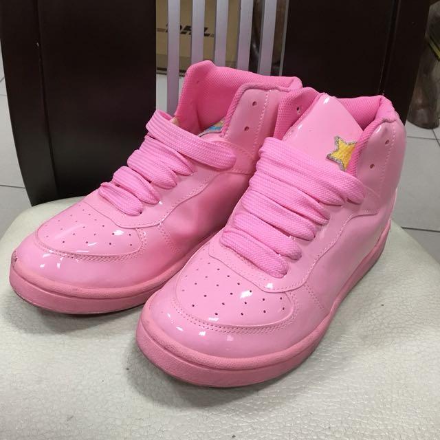台灣富發牌粉紅色可愛高筒運動鞋