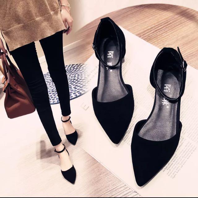平底尖頭鞋