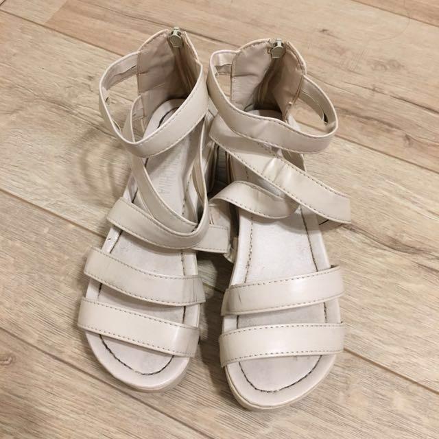 ⚫️羅馬厚底涼鞋