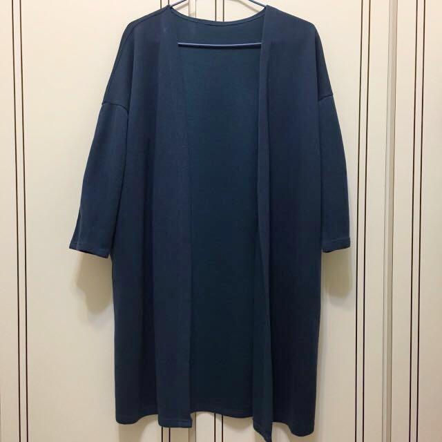 降🤗藍長版外套