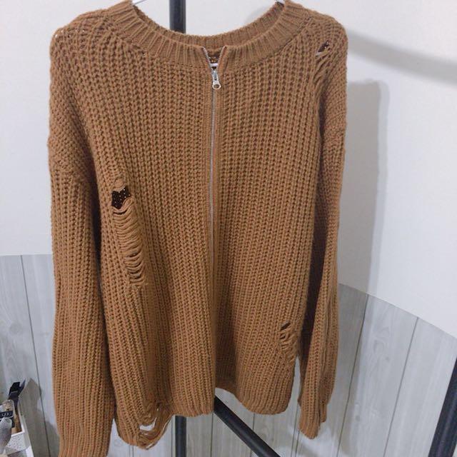 設計感針織外套 韓國連線
