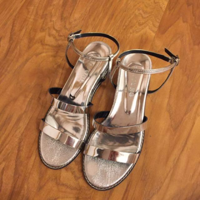 正韓 銀色涼鞋