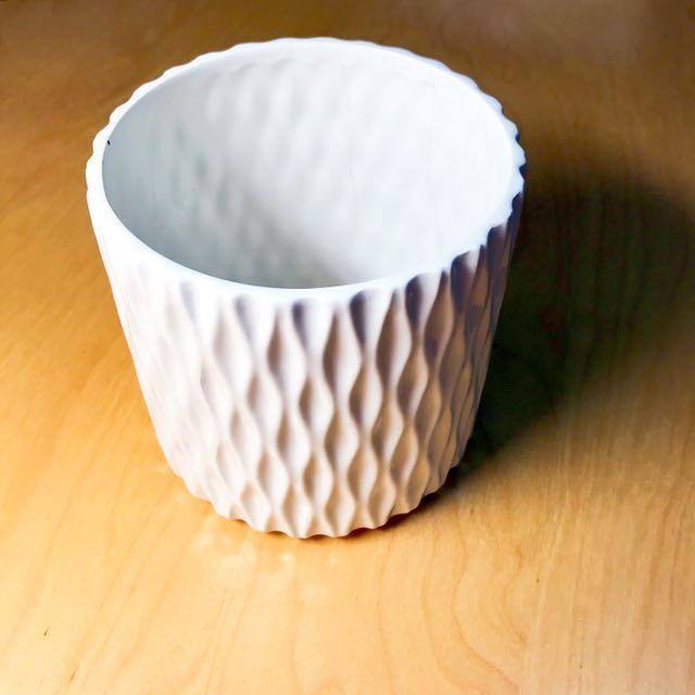 精緻白色花瓶 藝術品 收藏 #超取再七折