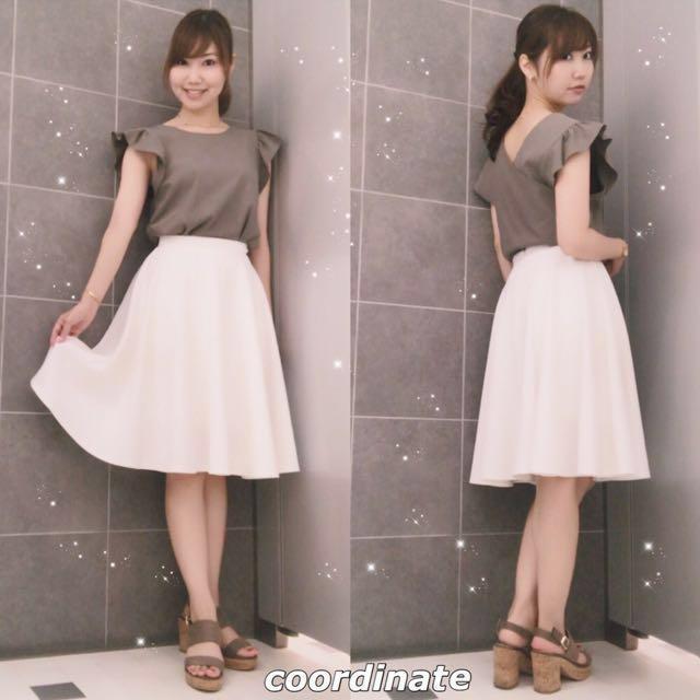 全新✨ 日本品牌 Moussy 版型超美過膝圓裙 #超取再七折