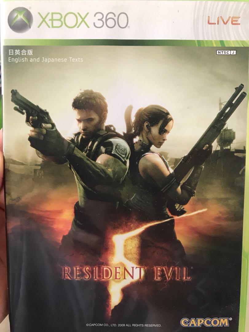 包郵 XBOX 360 Resident Evil 日英合版 95%新