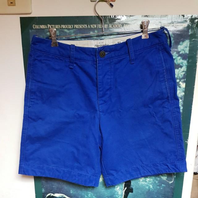 Abercrombie & Fitch寶藍色短褲