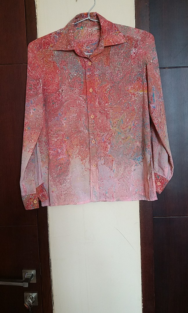 Abstract pink blouse