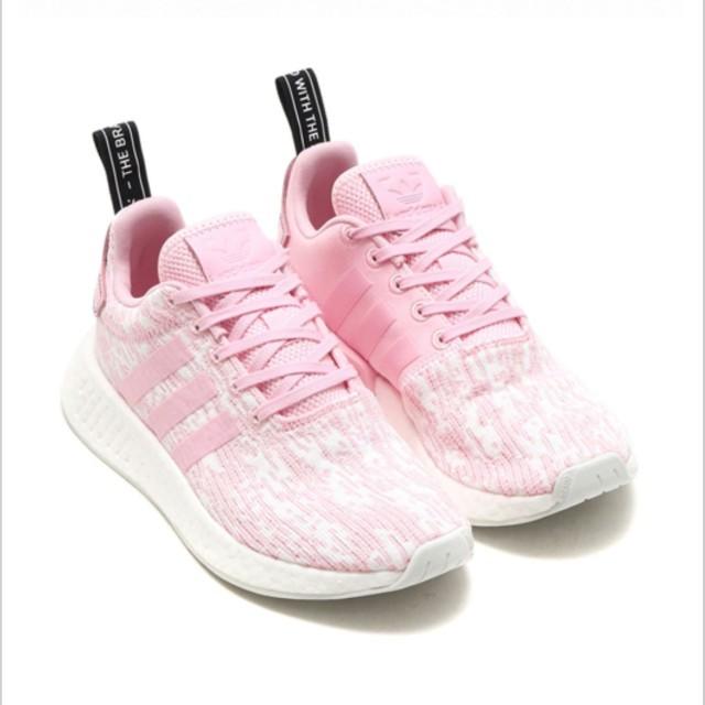 adidas 愛迪達玫瑰粉慢跑運動潮鞋