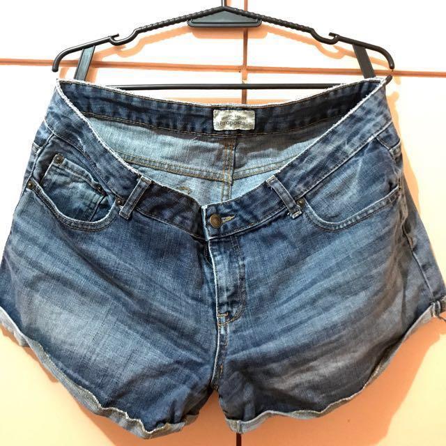 Aeropostale Plus Size Denim Shorts