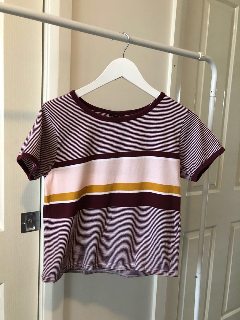 ALL ABOUT EVE HER BOY VINTAGE STRIPE TEE - SIZE 10