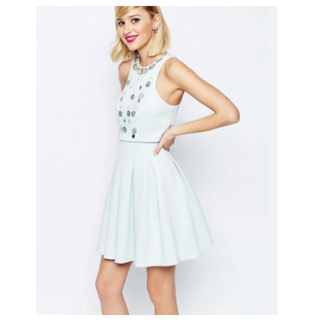 ASOS embellished dress- size 8