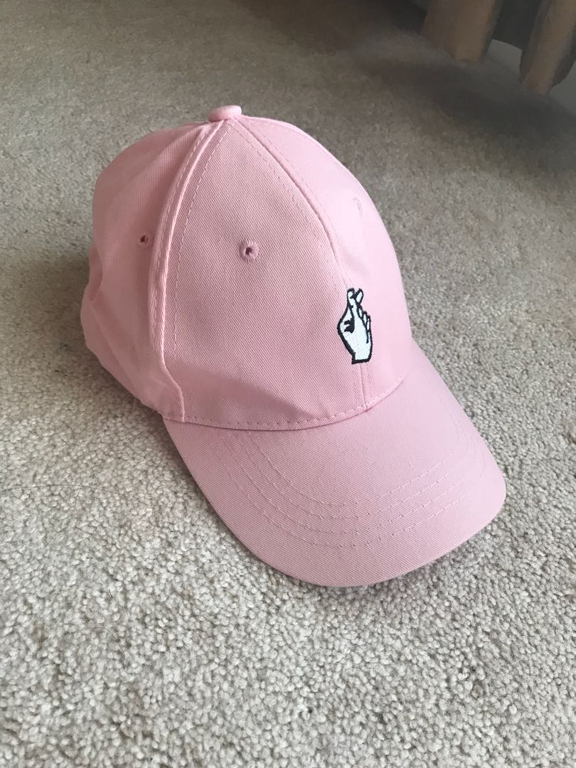 Baby Pink cap with ❤️