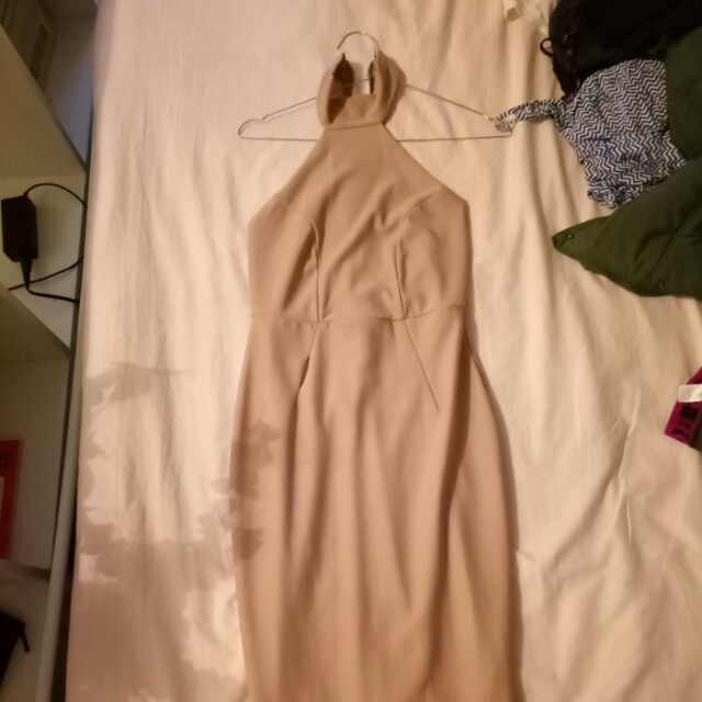 Backless clubbing cocktail dress