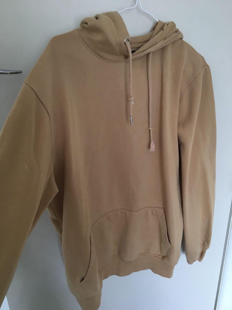 Beige hoodie size 8