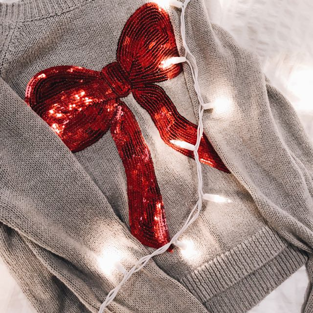 Bethany Mota sweater with bow