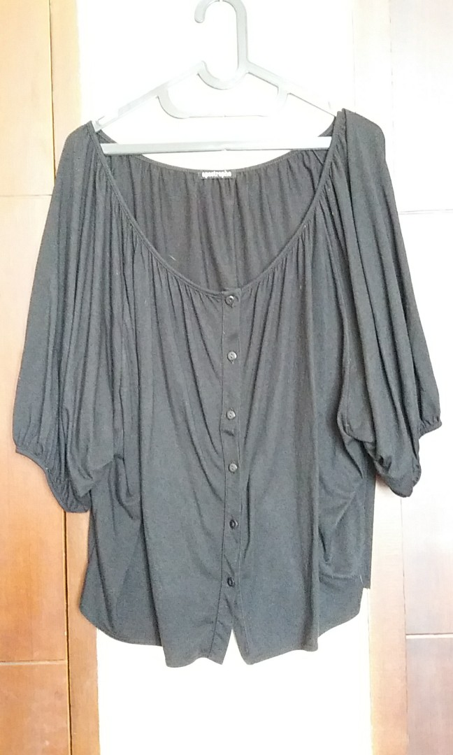Big black ruffle cardigan