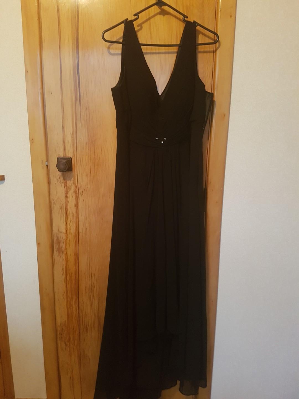 Black full-length formal dress