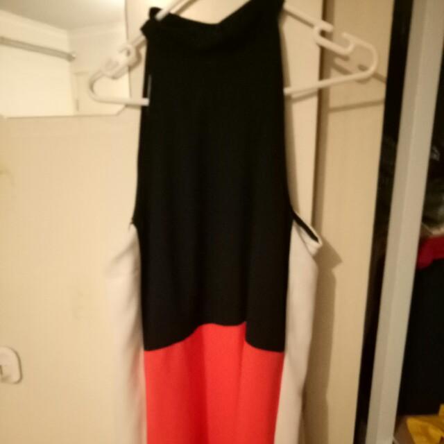Block colour mini dress