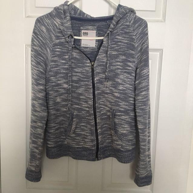 Blue Garage Full-Zip Sweater