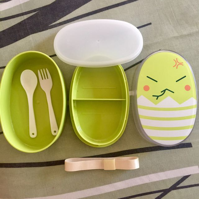 Bnew Lunch box with spoon and fork