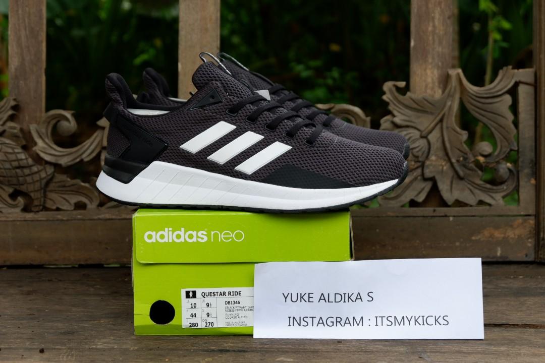Skate Shoes C5201 804c1 Adidas Cloudfoam Questar Ride Black White