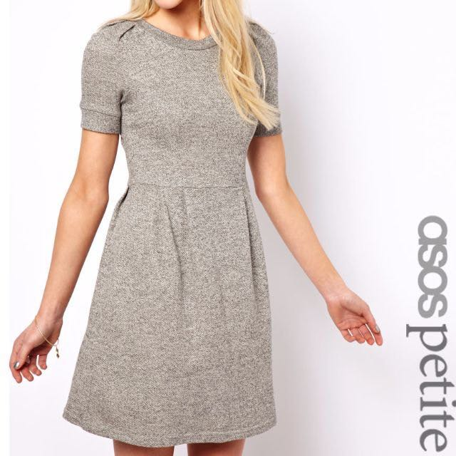 BNWOT Asos Petite Silver Knit Dress 12/14 REDUCED