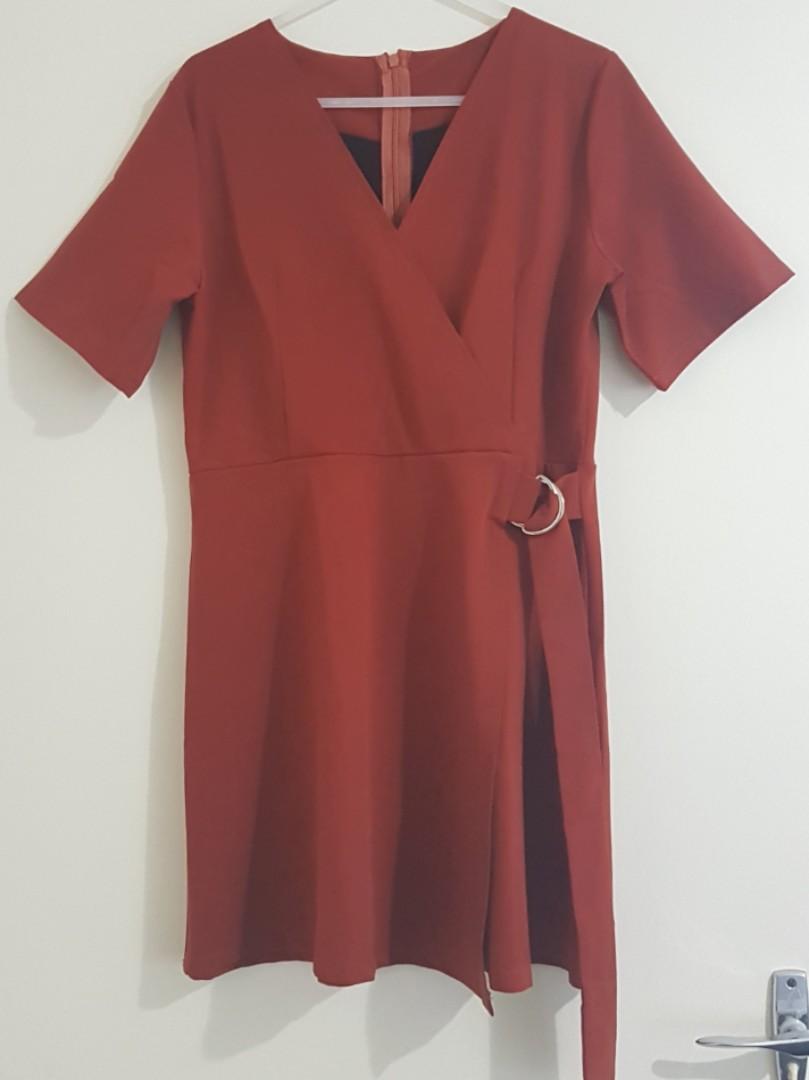 Brick Red Dress