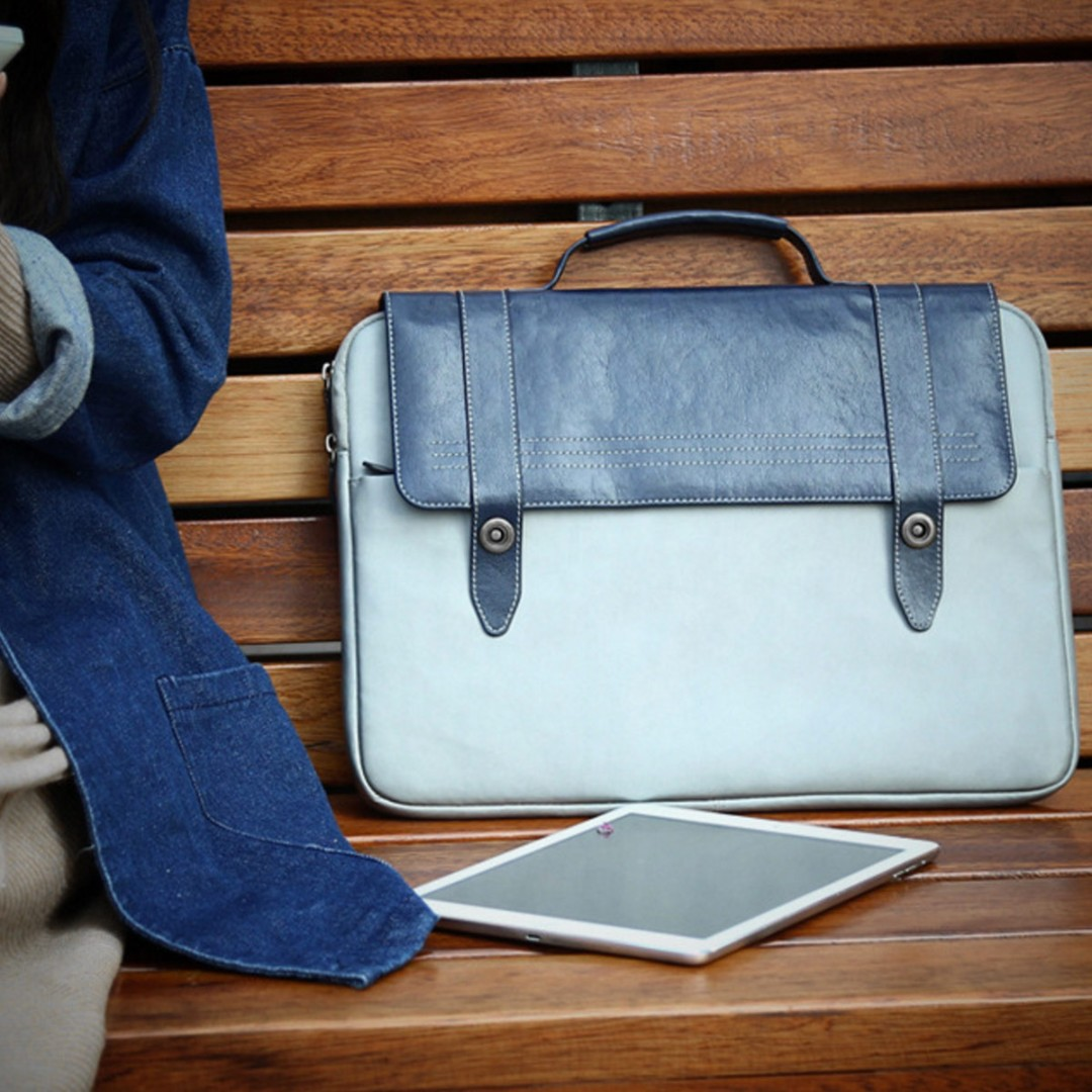 Briefcase Vintage Bag - Fits up to 14inch laptops!