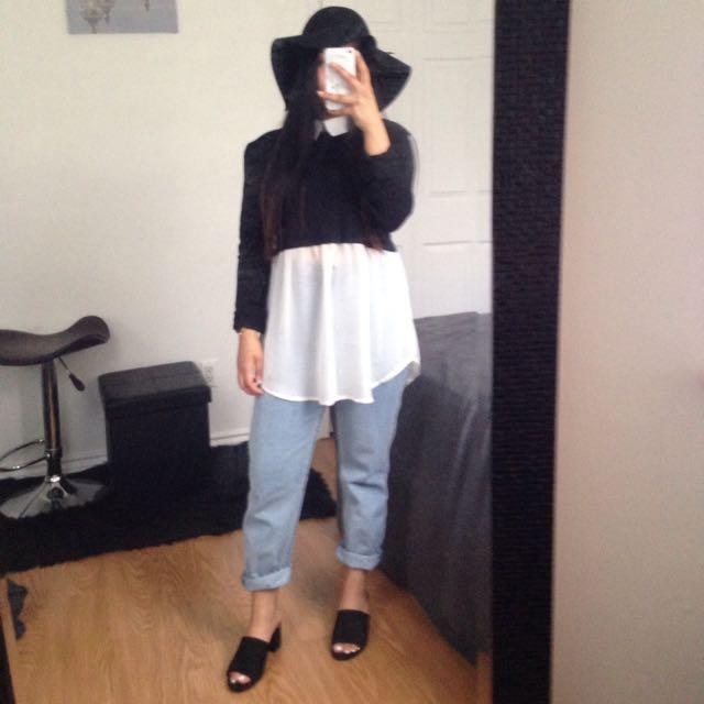 B/W blouse
