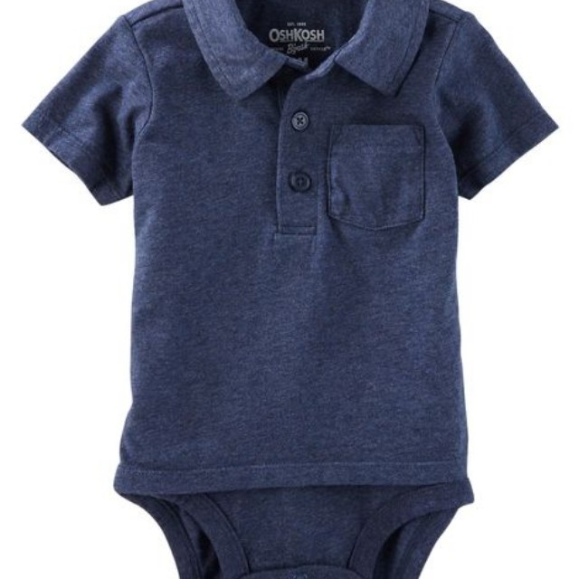 9b48014a1 Carter's Double Decker polo onesie faux two piece 12-18 months ...