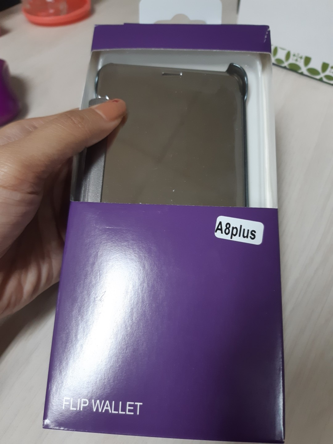 Case HP samsung A8 plus (Flip Wallet)