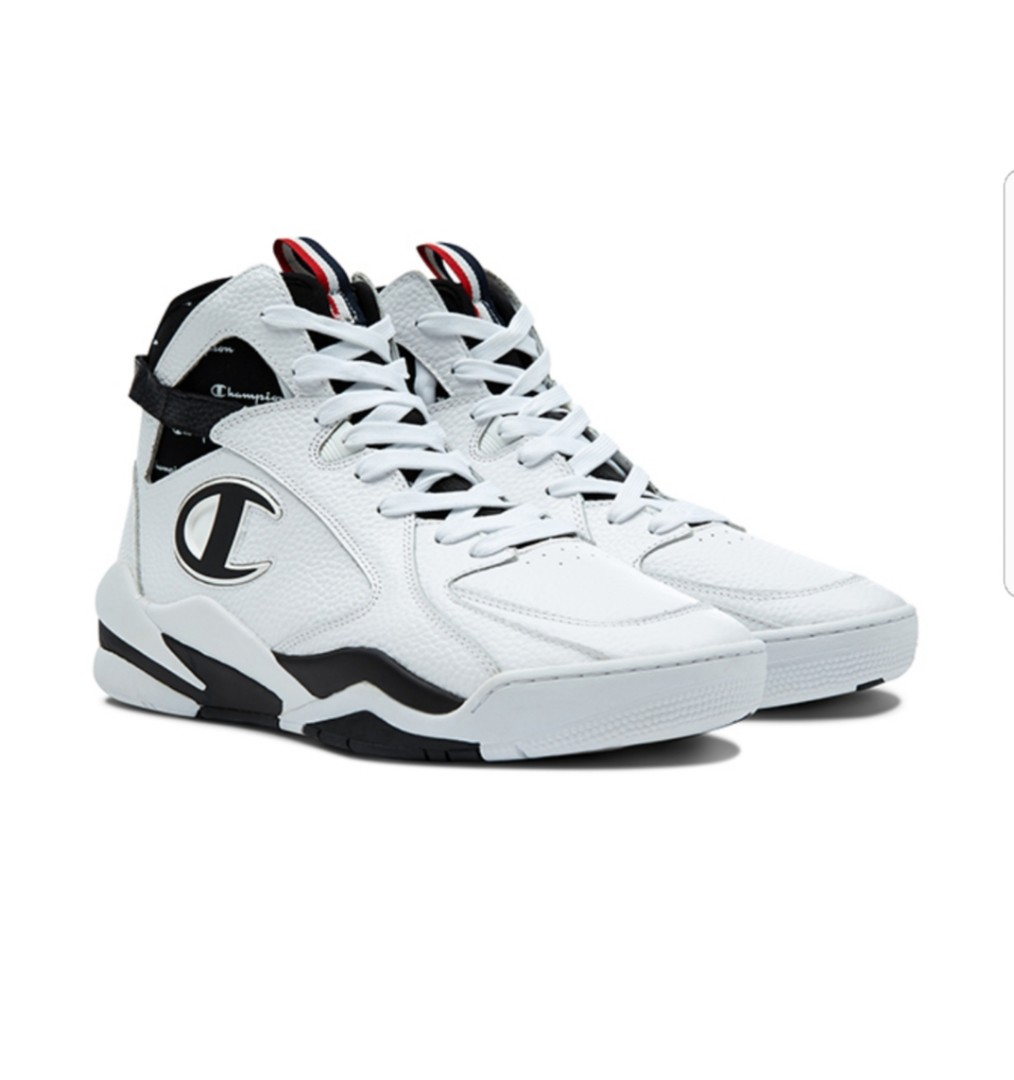 8bac1e7bc0cc1 Champion Zone 93 High Leather Shoes - White - UK11