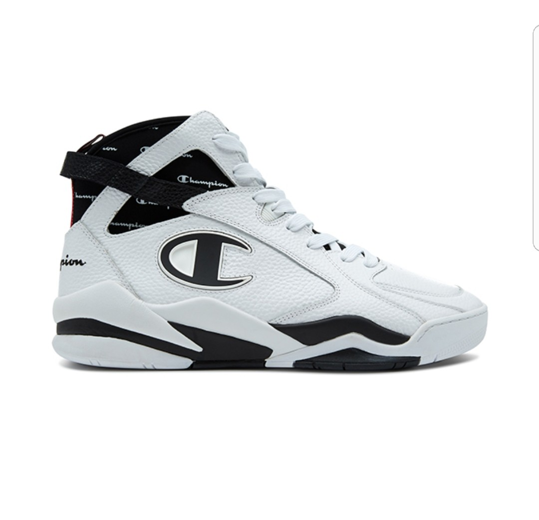 469cf7e3df0dc Champion Zone 93 High Leather Shoes - White - UK11