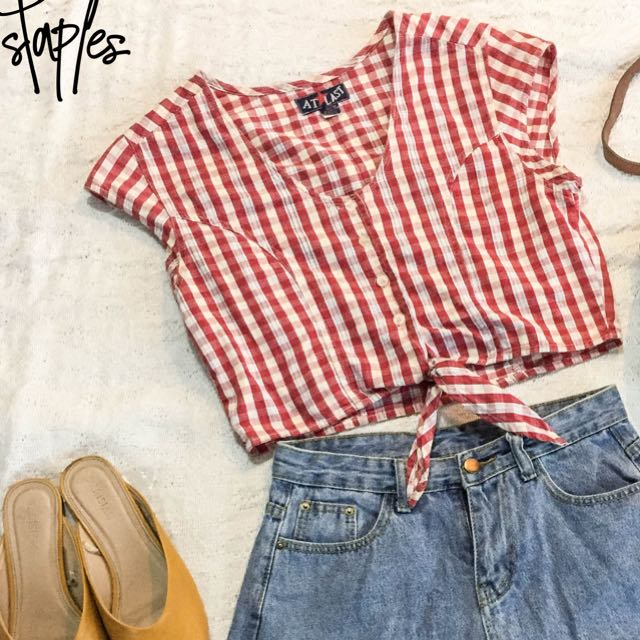 Checkered Tie Top (Code-Grace)