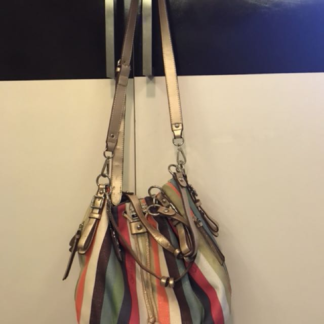 coach bucket multicolored bag
