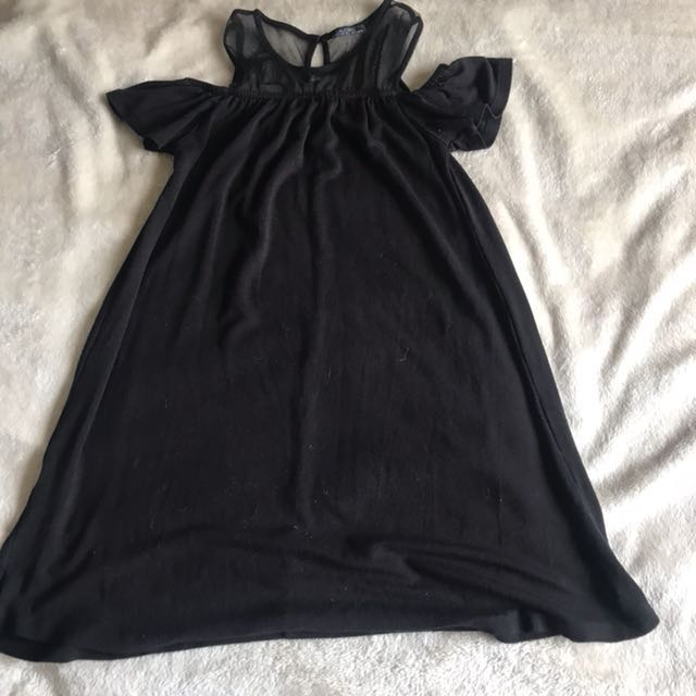 Cold-Shoulder Black Dress
