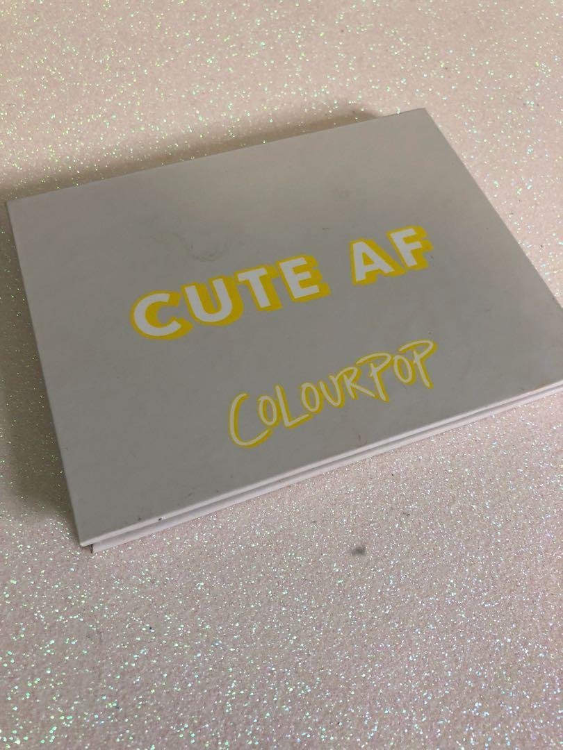 Colourpop cute af pallet