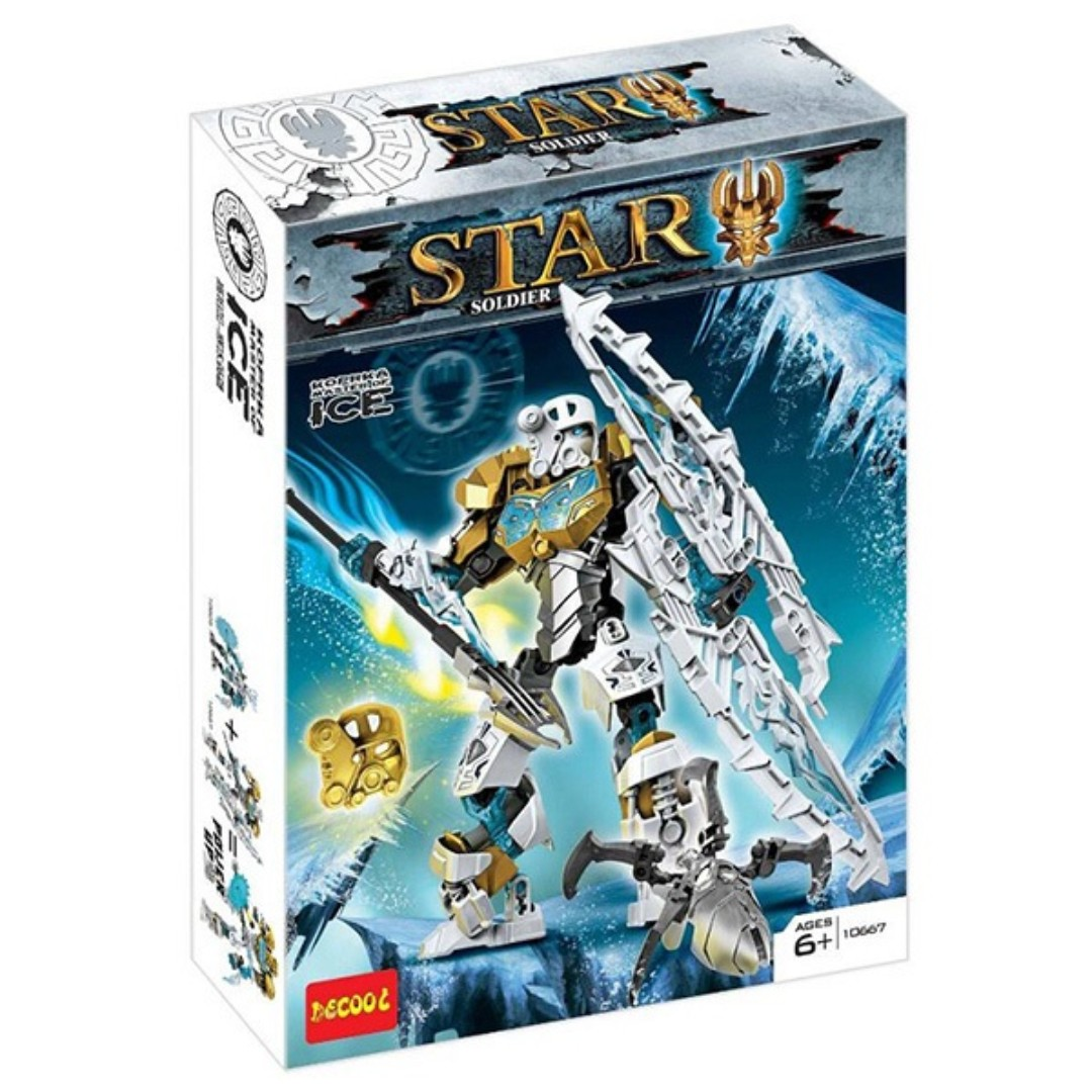 decool 10667 bionicle star soldier master of ice robot building