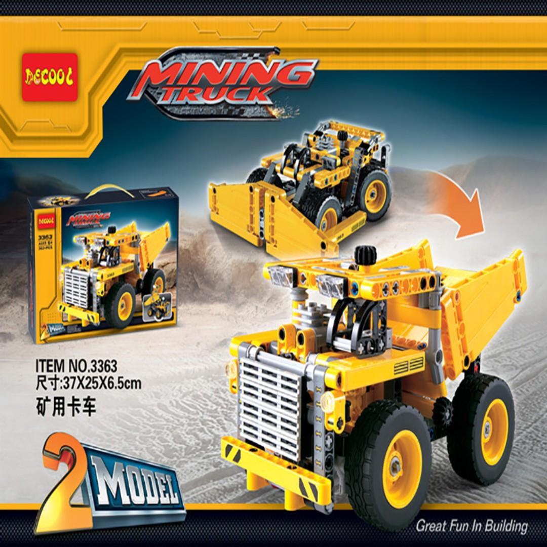 Decool 3363 Mining Technic 2 In 1 Truck Building Block Set Toys Rak Untuk Games Diecast Toy Vehicles On Carousell