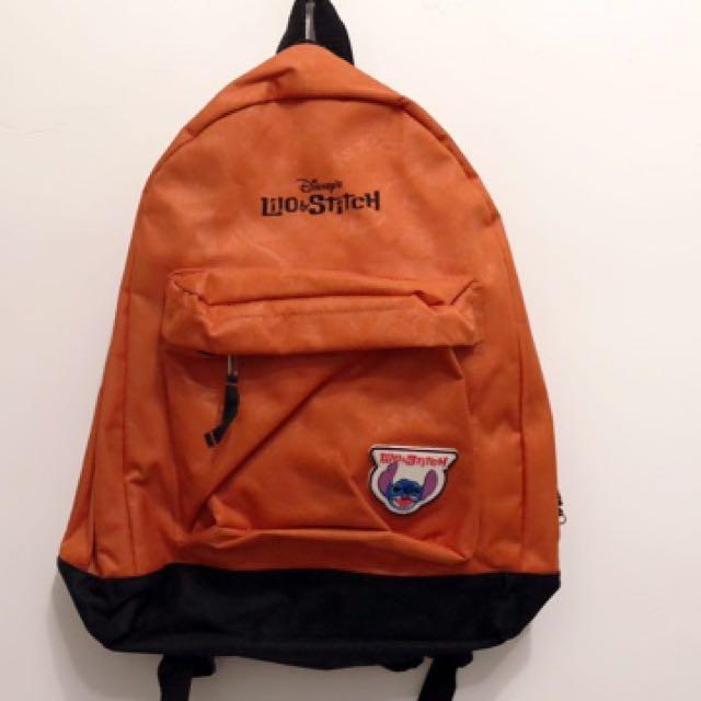 全新Disney 史地奇造型登山包、書包、一般背包皆可。 國外購入吊牌還在
