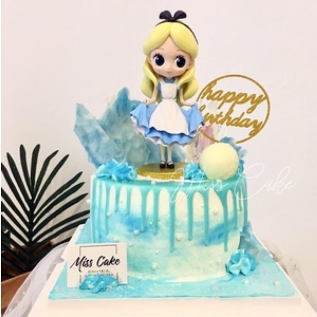 Disney Alice In A Wonderland Peter Pan Tinkerbell Cake Topper