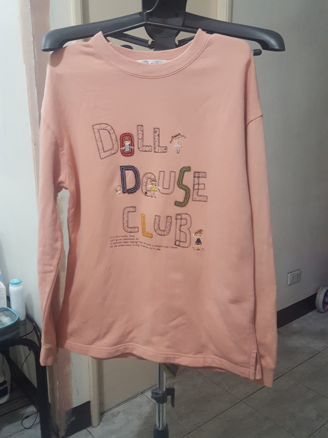 Doll house club pink sweat shirt longsleeves