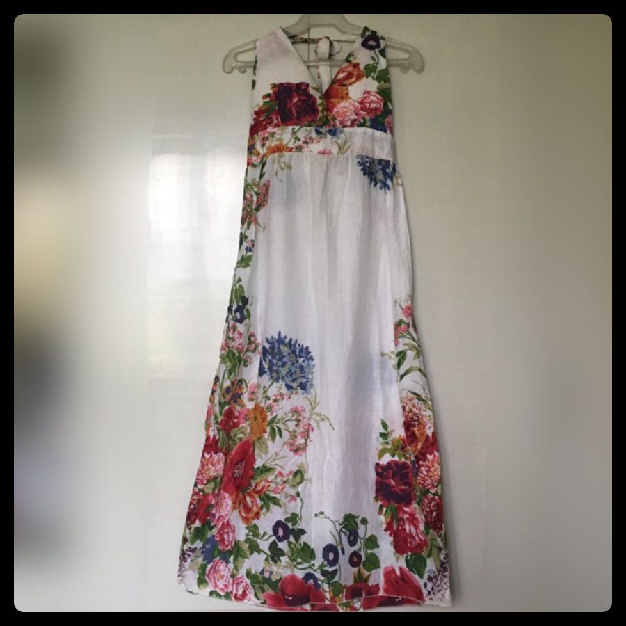 Dress 16: White Floral Haltered