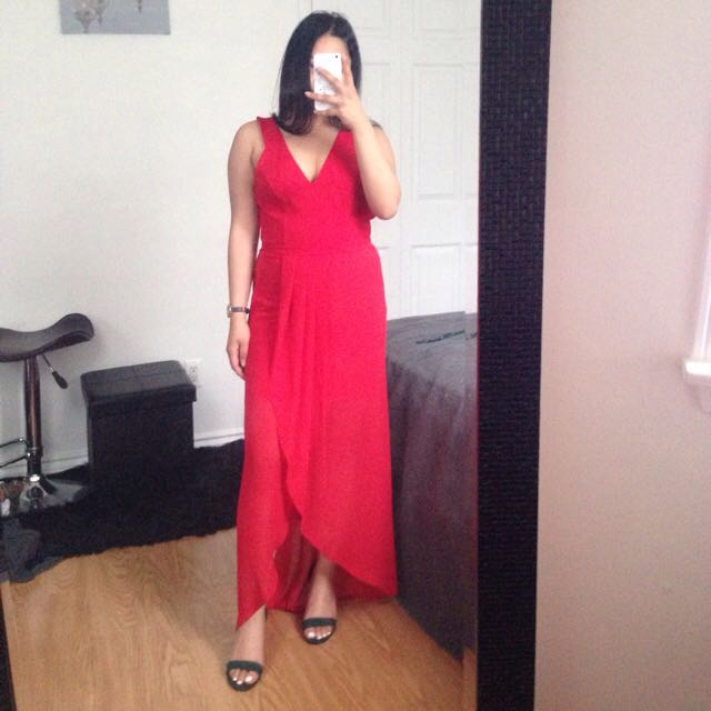 Ever New Melbourne red long dress